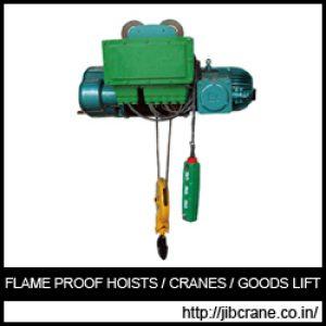 Flame Proof Hoists Manufacturer